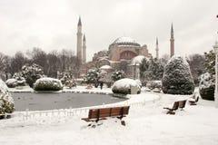 Μουσείο της Sophia Hagia στο χιονώδη χειμώνα Στοκ Εικόνα