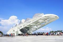Μουσείο του αύριο (Museu do Amanha) στο Ρίο ντε Τζανέιρο, Βραζιλία Στοκ Εικόνες