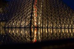 Μουσείο του Λούβρου τή νύχτα Στοκ εικόνες με δικαίωμα ελεύθερης χρήσης