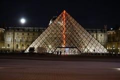 Μουσείο του Λούβρου τη νύχτα Στοκ εικόνες με δικαίωμα ελεύθερης χρήσης