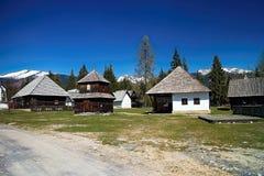 Μουσείο του χωριού Liptov σε Pribylina, το νεώτερο μουσείο στη φύση στη Σλοβακία στοκ εικόνα με δικαίωμα ελεύθερης χρήσης
