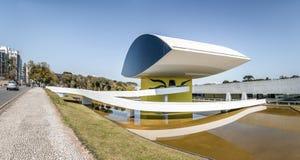 Μουσείο του Oscar Niemeyer - Curitiba, Παράνα, Βραζιλία Στοκ φωτογραφία με δικαίωμα ελεύθερης χρήσης
