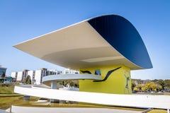 Μουσείο του Oscar Niemeyer - Curitiba, Παράνα, Βραζιλία Στοκ Φωτογραφίες