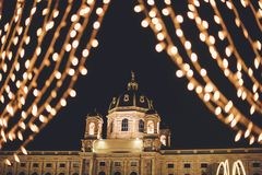 Μουσείο φυσικής ιστορίας στο χρόνο Χριστουγέννων στοκ φωτογραφίες