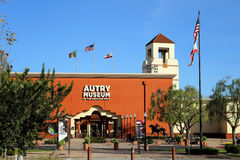 Μουσείο Autry της αμερικανικής δυτικής μπροστινής εισόδου Στοκ Φωτογραφίες