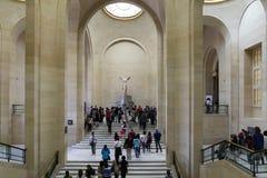 μουσείο LE louvre στο Παρίσι, Γαλλία στοκ εικόνες με δικαίωμα ελεύθερης χρήσης