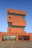 Μουσείο MAS, εικονική αρχιτεκτονική στο κέντρο πόλεων της Αμβέρσας, Βέλγιο Στοκ Φωτογραφίες