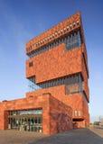 Μουσείο MAS, εικονική αρχιτεκτονική στο κέντρο πόλεων της Αμβέρσας, Βέλγιο Στοκ εικόνα με δικαίωμα ελεύθερης χρήσης