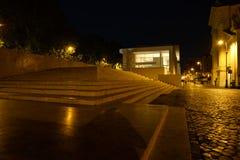 Μουσείο Pacis Ara στη Ρώμη, άποψη νύχτας Στοκ Φωτογραφία