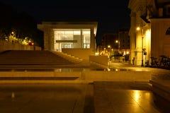 Μουσείο Pacis Ara στη Ρώμη, άποψη νύχτας Στοκ Εικόνες