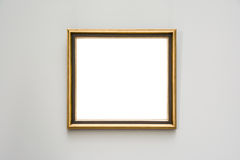 Μουσείων Τέχνης πλαισίων μπλε λευκό σχεδίου τοίχων περίκομψο ελάχιστο που απομονώνεται Στοκ εικόνα με δικαίωμα ελεύθερης χρήσης