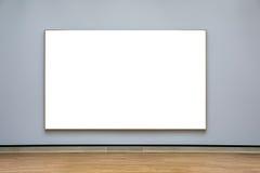 Μουσείων Τέχνης πλαισίων μπλε λευκό σχεδίου τοίχων περίκομψο ελάχιστο που απομονώνεται Στοκ φωτογραφία με δικαίωμα ελεύθερης χρήσης