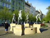 Μουσικά αγάλματα πηγών στοκ εικόνες με δικαίωμα ελεύθερης χρήσης