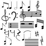 μουσικά σύμβολα συλλο&g Στοκ Εικόνες