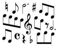 μουσικά σύμβολα Στοκ φωτογραφία με δικαίωμα ελεύθερης χρήσης