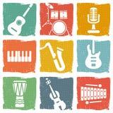 Μουσικά όργανα διανυσματική απεικόνιση