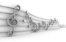 μουσικές εννέα νότες που & ελεύθερη απεικόνιση δικαιώματος