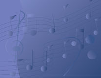 μουσικές νότες ανασκόπησης Στοκ Εικόνα