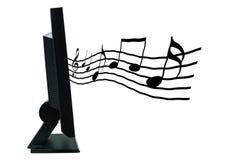 μουσικές νότες μηνυτόρων LCD Στοκ Εικόνα