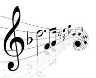 μουσικές νότες ελεύθερη απεικόνιση δικαιώματος