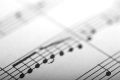 μουσικές νότες Στοκ εικόνες με δικαίωμα ελεύθερης χρήσης