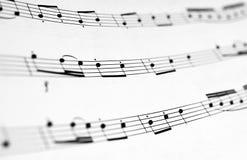 μουσικές νότες Στοκ Φωτογραφία