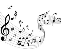 μουσικές νότες στοκ εικόνες