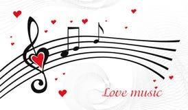 μουσική αγάπης Στοκ Εικόνα