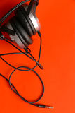 Μουσική ακουστικών Στοκ Φωτογραφία
