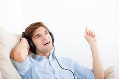 Μουσική ακούσματος ατόμων Στοκ Εικόνα