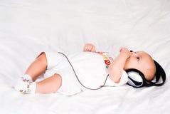 μουσική ακούσματος μωρών Στοκ Εικόνα