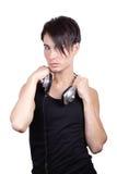 Μουσική ακούσματος νεαρών άνδρων Στοκ φωτογραφία με δικαίωμα ελεύθερης χρήσης