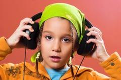 μουσική ακούσματος παι&del Στοκ Φωτογραφίες