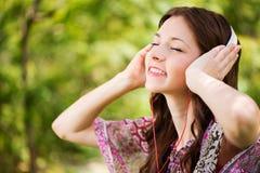 Μουσική ακούσματος στη φύση Στοκ Φωτογραφίες