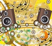 μουσική αναδρομική Στοκ Εικόνες
