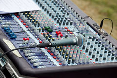 μουσική αναμικτών γραφεί&omega Στοκ Φωτογραφίες