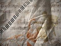 μουσική ανασκόπησης Στοκ Φωτογραφίες