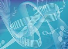 μουσική ανασκόπησης Στοκ εικόνα με δικαίωμα ελεύθερης χρήσης