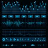 μουσική ανασκόπησης Στοκ Εικόνα