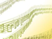 μουσική ανασκόπησης Στοκ Φωτογραφία