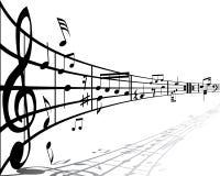 μουσική ανασκόπησης Στοκ φωτογραφία με δικαίωμα ελεύθερης χρήσης