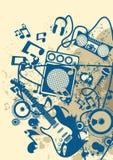 Μουσική ανασκόπηση Grunge Στοκ Φωτογραφία