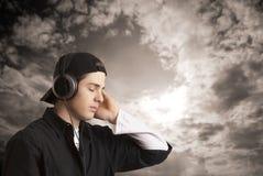 μουσική ατόμων ακούσματος στις νεολαίες Στοκ Φωτογραφία