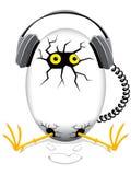 μουσική αυγών Στοκ Εικόνες