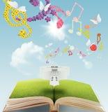 μουσική βιβλίων ανοικτή Στοκ Εικόνα