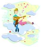 Μουσική για την αγάπη διανυσματική απεικόνιση