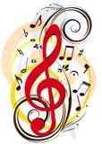 μουσική διακοσμήσεων ελεύθερη απεικόνιση δικαιώματος
