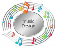 μουσική εικονιδίων Στοκ εικόνα με δικαίωμα ελεύθερης χρήσης