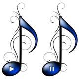μουσική εικονιδίων Στοκ φωτογραφία με δικαίωμα ελεύθερης χρήσης