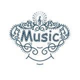Μουσική επιγραφή, χαμόγελο Στοκ Εικόνα